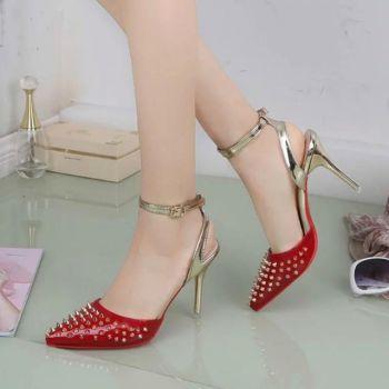 Eleganti Rosii Cu Pantofi Mediu Toc QCdoxBWre